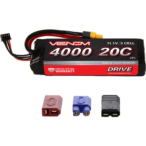 Venom Group 11.1V 4000mAh LiPo Battery with Interchangeable Connectors