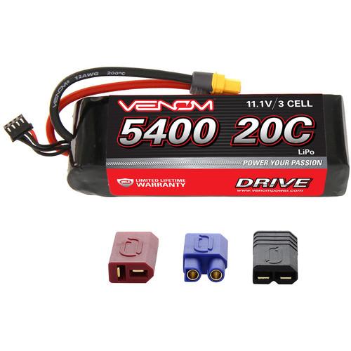 Venom Group Venom 20C 3S 5400mAh 11.1V Lipo Battery With Universal Plug System