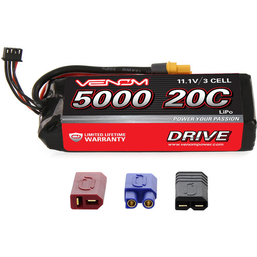 Venom Group 11.1V 5000mAh LiPo Battery with Interchangeable Connectors
