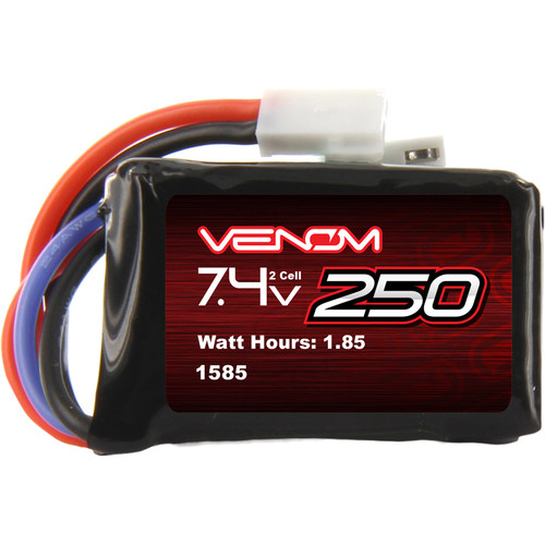 Venom Group Venom 15C 2S 250mAh 7.4V Lipo Battery For Rc Losi 1/24