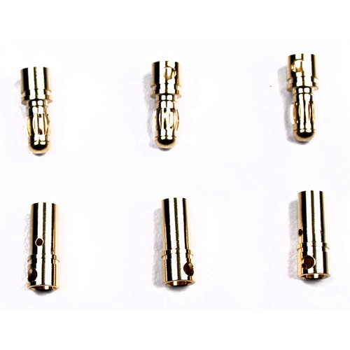Venom Group Micro Bullet Plug 3.5mm for 14 AWG Wire (3 Sets)