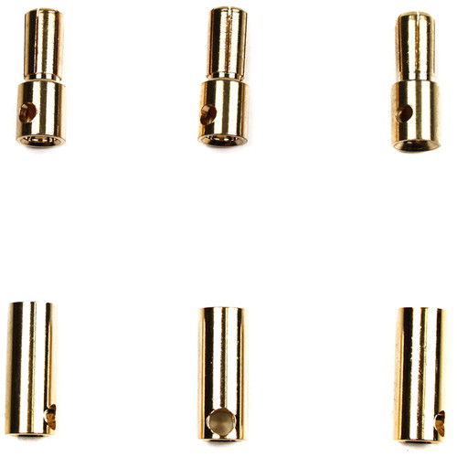 Venom Group Micro Bullet Plug 5.5mm for 10 to 12 AWG Wire (3 Sets)