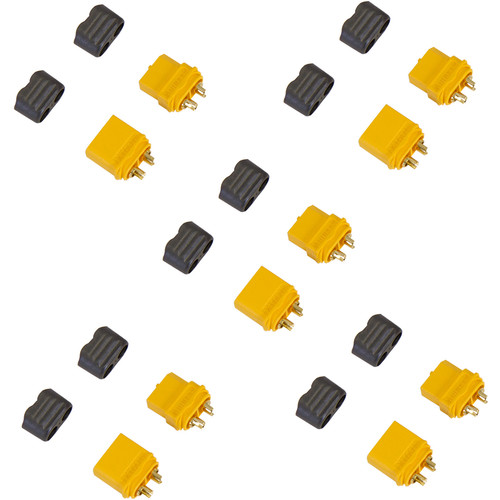 Venom Group Amass XT60+ Male and Female Battery Connector Plug for ESC and Charge Lead Batteries (5-Pairs)