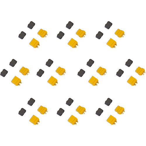 Venom Group Amass XT60+ Male and Female Battery Connector Plug for Device ESC and Charge Lead Batteries (10-Pairs)