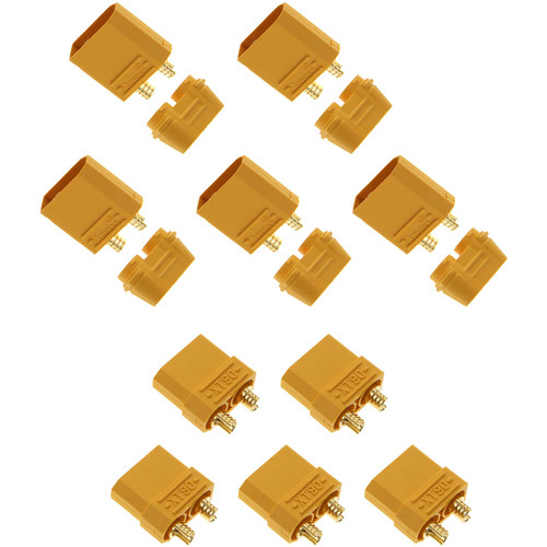 Venom Group Amass XT90 Male and Female Battery Connector Plug for ESC and Charge Lead Batteries (5-Pairs)
