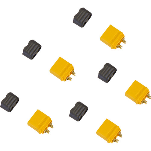 Venom Group Amass XT60+ Male Battery Connector Plug for Device ESC and Charge Lead Batteries (5-Pack)