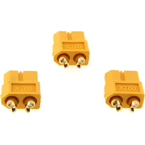 Venom Group Amass XT60 Female Battery Connector Plug (3-Pack)