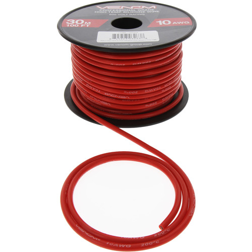 Venom Group 10 AWG Soft Silicone High Strand Count Wire (100' Roll, Red)