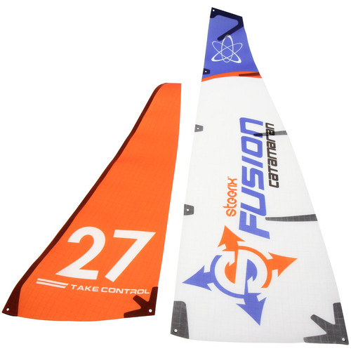 Atomik RC Main & Jib Sails for Steerix Fusion Micro Catamaran RC Sailboat