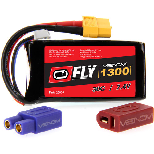 Venom Group Venom FLY 30C 2S 1300mAh 7.4V LiPo Battery with UNI 2.0 Plug