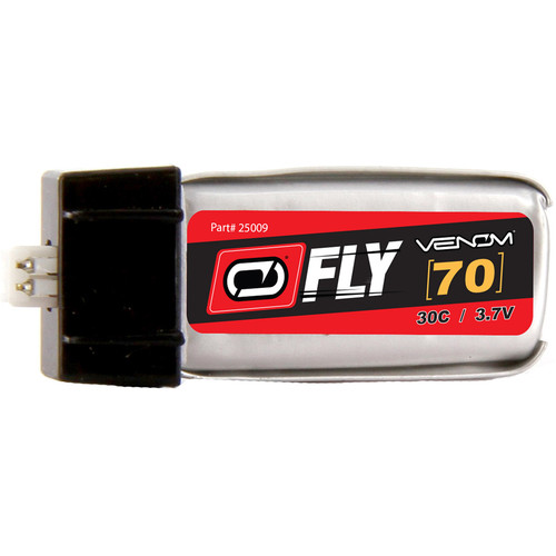 Venom Group Fly 30C 1S 70mAh LiPo Battery with E-Flite Blade MCX Connector (3.7V)