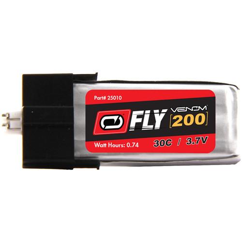 Venom Group Fly 3.7V 200mAh 30C 1S LiPo Battery with E-Flite MCPX Plug (2-Pack)