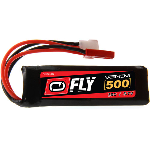Venom Group Fly 30C 1S 500mAh LiPo Battery with Micro Losi & JST Connectors (3.7V)