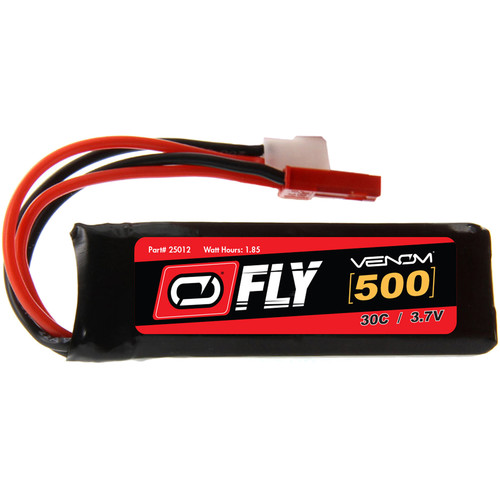 Venom Group Fly 3.7V 500mAh 30C 1S LiPo Battery with Micro Losi and JST Plug (2-Pack)