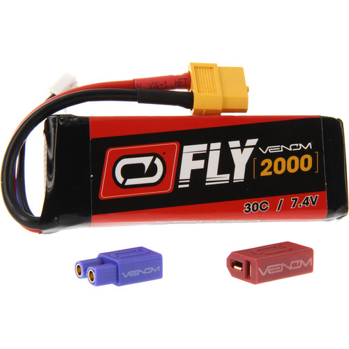 Venom Group Fly 30C 2S 2000mAh LiPo Battery with UNI 2.0 Connector (7.4V)