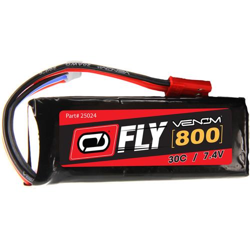 Venom Group Fly 30C 2S 800mAh 7.4V LiPo Battery with JST Plug