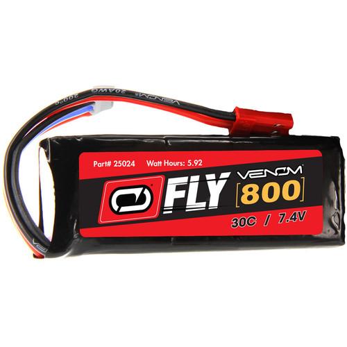 Venom Group Fly 7.4V 800mAh 30C 2S LiPo Battery with JST Plug (2-Pack)
