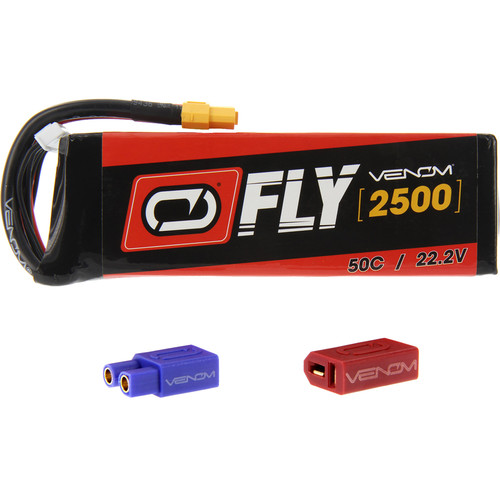 Venom Group Fly 50C 6S 2500mAh LiPo Battery with UNI 2.0 Connector (22.2V)