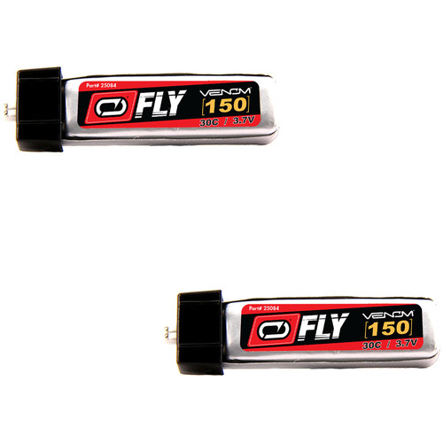 Venom Group Fly 30C 1S 150mAh LiPo Battery with E-Flite Blade MCX Connector (3.7V, 2 Pack)