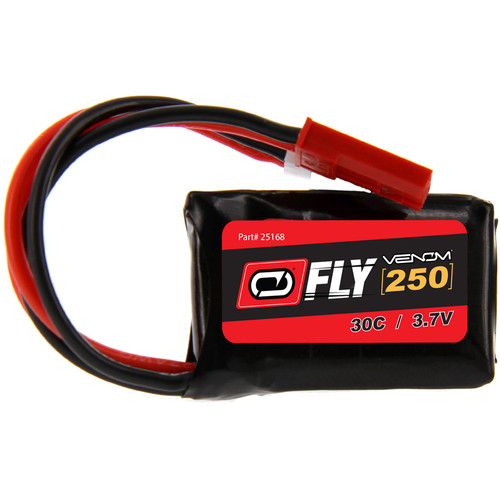 Venom Group Fly 30C 1S 250mAh LiPo Battery with Micro Losi & JST Connectors (3.7V)