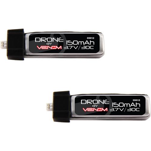 Venom Group 30C 1S 150mAh 3.7V LiPo Micro Drone Battery With E-Flite MCX Plug X2 Packs