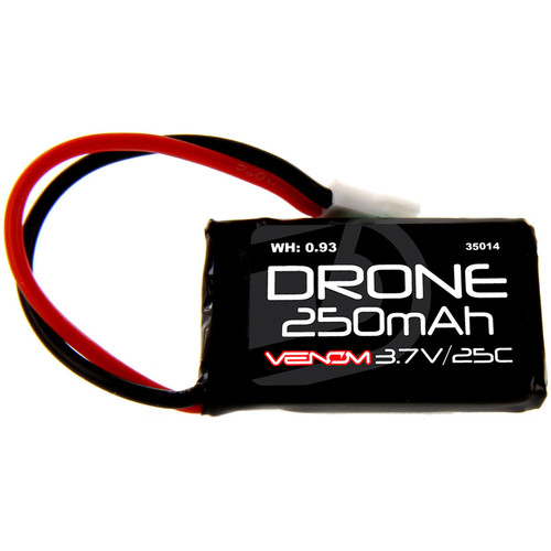 Venom Group 25C 1S 250mAh LiPo Micro Drone Battery with Micro Losi Connector (3.7V)