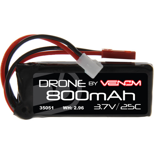Venom Group 3.7V 800mAh 25C 1S LiPo Battery with Micro Losi and JST Plugs