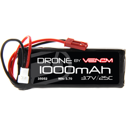 Venom Group 3.7V 1000mAh 25C 1S LiPo Battery with Micro Losi and JST Plugs