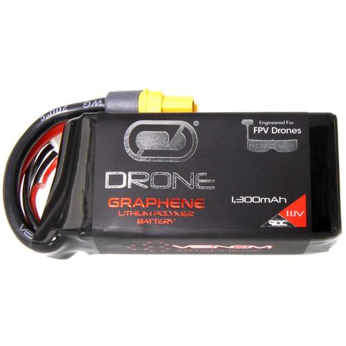 Venom Group Graphene 90C 3S 1300mAh 11.1V Drone Racing LiPo Battery with Uni 2.0 Plug