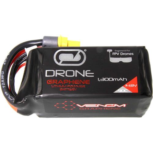 Venom Group FPV Race Series Graphene 1300mAh 90C 4S 14.8V LiPo Battery with UNI 2.0
