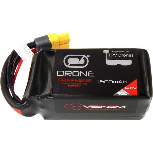 Venom Group Graphene 90C 4S 1500mAh 14.8V Drone Racing LiPo Battery with Uni 2.0 Plug