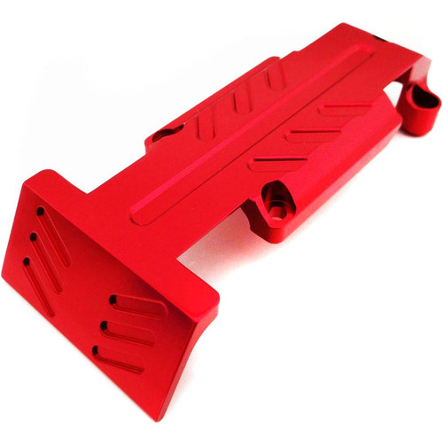 Atomik RC Rear Skid Plate for Traxxas E-Revo 1/10 Scale RC Monster Truck (Red)
