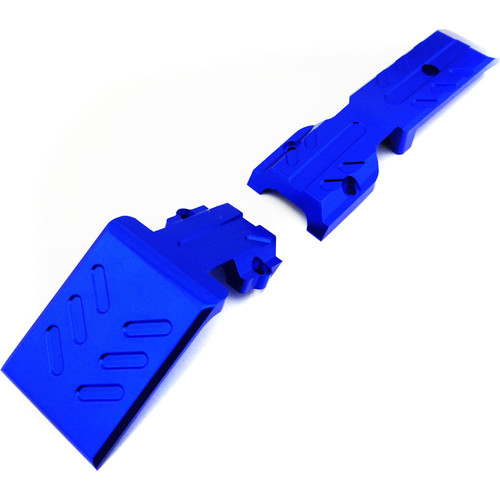 Atomik RC Front Skid Plate for Traxxas E-Revo 1/10 Scale RC Monster Truck (Blue)