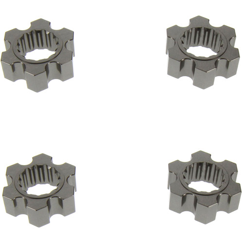 Atomik RC Hex Adapters for Traxxas X-Maxx RC Monster Truck (Set of 4, Gray)