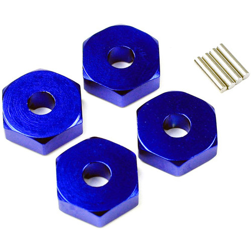 Atomik RC Wheel Hex Adapter for Traxxas Slash 1/16 Scale RC Short-Course Truck (Blue)