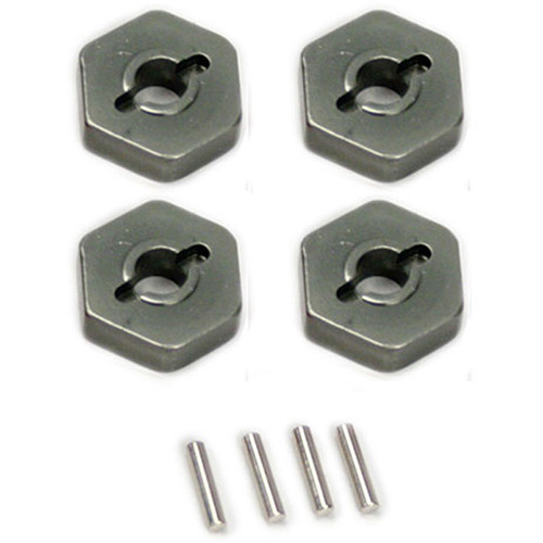 Venom Group Traxxas 1:16 Slash 4X4 +Other Trx Models Alloy Wheel Hex Adaptor (Grey)
