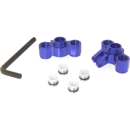 Atomik RC Rear Axle Carriers for Traxxas Slash 1/16 Scale RC Short-Course Truck (Blue)