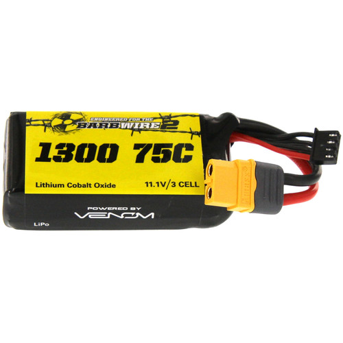 Venom Group 75C 3S 1300mAh 11.1V LiPo Battery for Atomik Barbwire 2 RTR Racing Boat