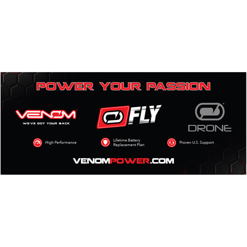 "Venom Group Venom Fly And Drone Banner 72"" X 30"" - Black"