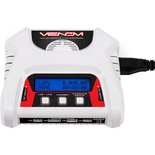 Venom Group 2- to 4-Cell AC/DC Dual LiPO Battery Balance Charger