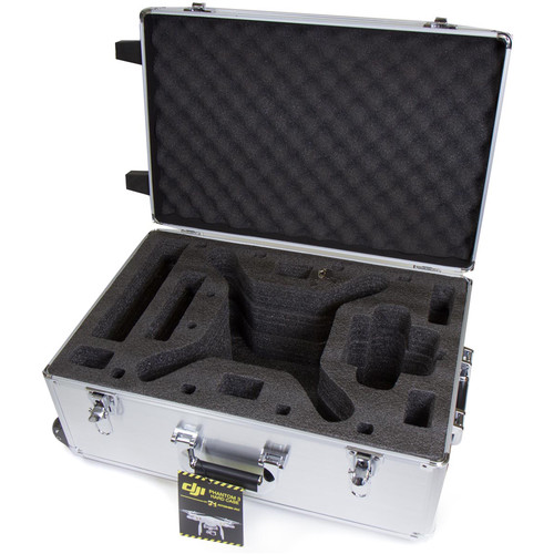 Venom Group Rolling Hard Carrying Case with Alloy Finish for DJI Phantom 3 RC Quadcopter Drone