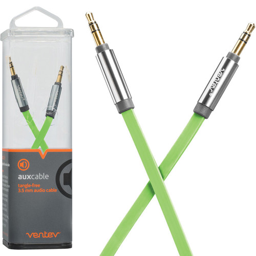 Ventev Innovations Aux Cable (Green, 4')
