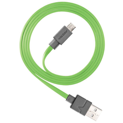 Ventev Innovations Chargesync Micro-USB Cable (Green, 3.3')