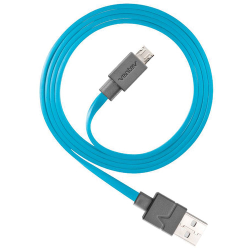 Ventev Innovations Chargesync Micro-USB Cable (Blue, 6')
