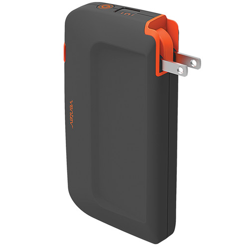 Ventev Innovations Powercell Portable Battery and Wall Charger with Micro-USB and Apple Lightning Connectors (10000mAh, Gray & Orange)