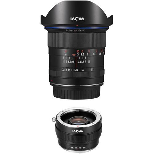 Venus Optics Laowa 12mm f/2.8 Zero-D Lens for Canon EF and Magic Shift Converter MSC for Sony E Kit