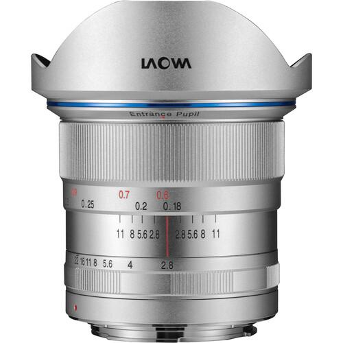 Venus Optics Laowa 12mm f/2.8 Zero-D Lens for Canon EF (Silver)