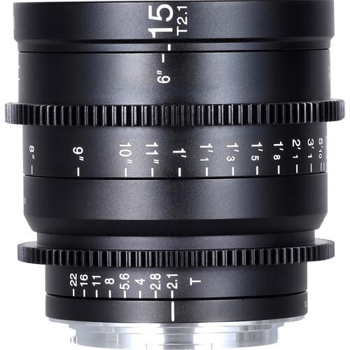 Venus Optics Laowa 15mm T2.1 Zero-D Cine Lens (Canon RF, Feet)