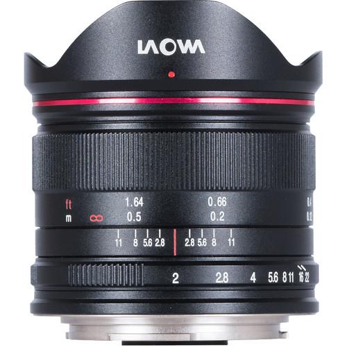 Venus Optics Laowa 7.5mm f/2 MFT Lens for Micro Four Thirds (Ultralight Version, Black)