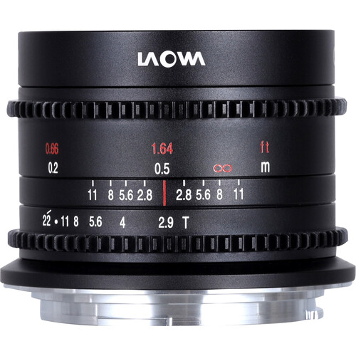 Venus Optics Laowa 9mm T2.9 Zero-D Cine Lens (RF Mount, Feet/Meters, Black)